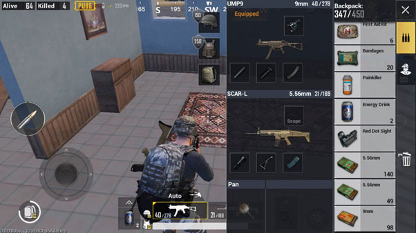 PUBG Buy Menu in Android and iOS