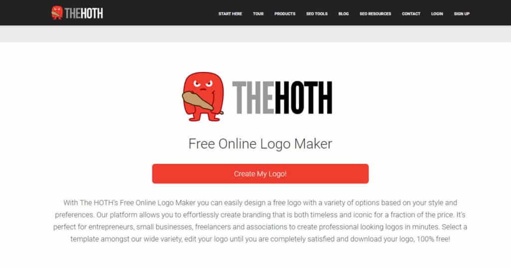 the hoth free online logo and business card maker devsjournal online logo and business card maker