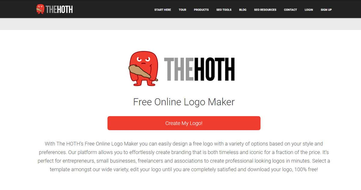 the hoth  free online logo and business card maker