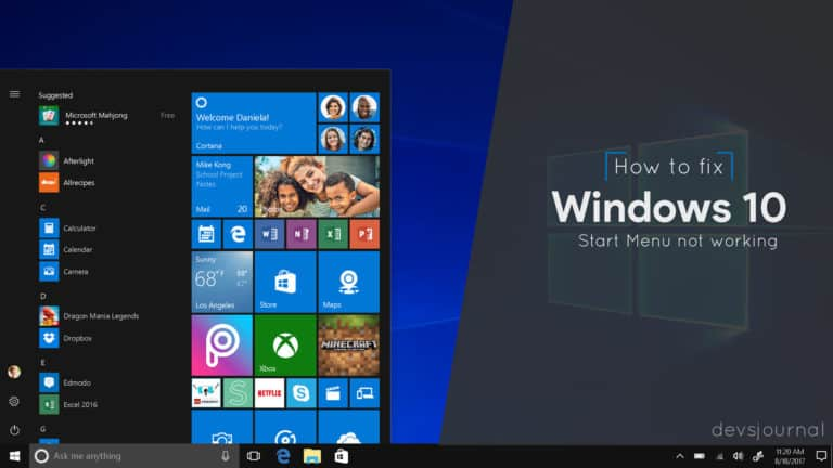 How to fix Windows 10 start menu not working or opening after update