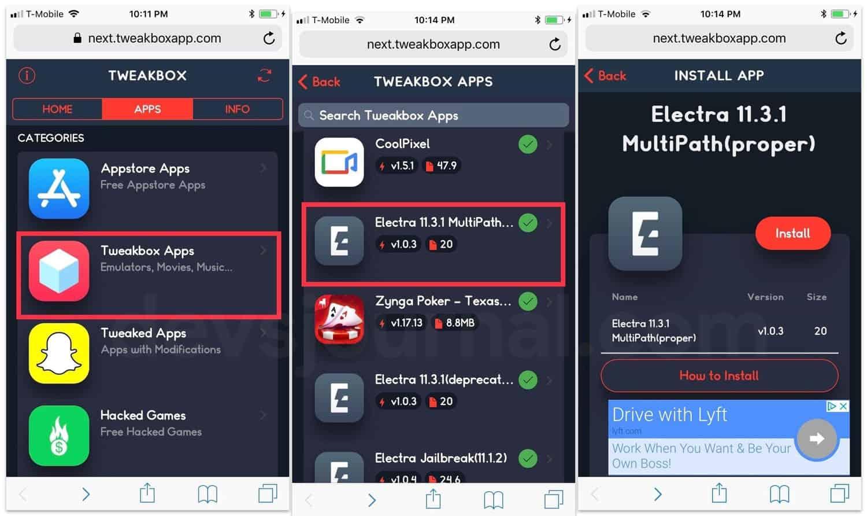 How to Jailbreak iOS 11.2 11.3.1 using Electra Tweakbox