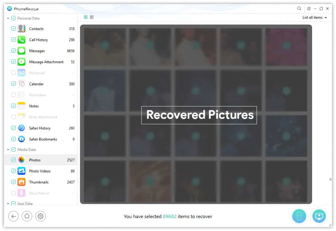 Recovered Photos Contacts Messages from iTunes Backup iPhone
