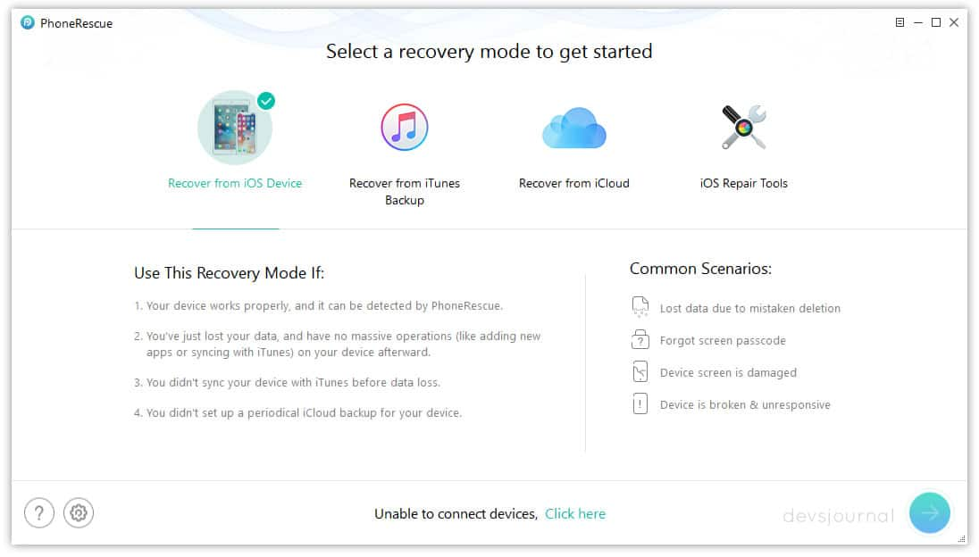 iMobie PhoneRescue iPhone Data Recovery from Storage iCloud and iTunes