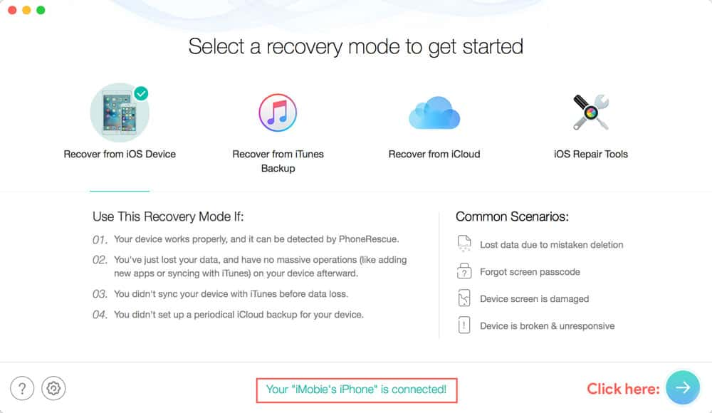 iPhone deleted data recovery from IOS device