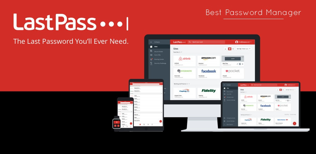 LastPass the best Password Manager app