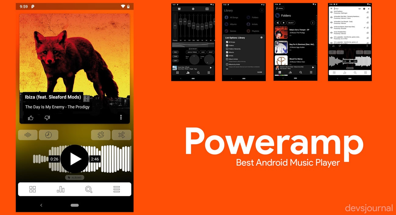 Latest Material design Poweramp best Music player for Android
