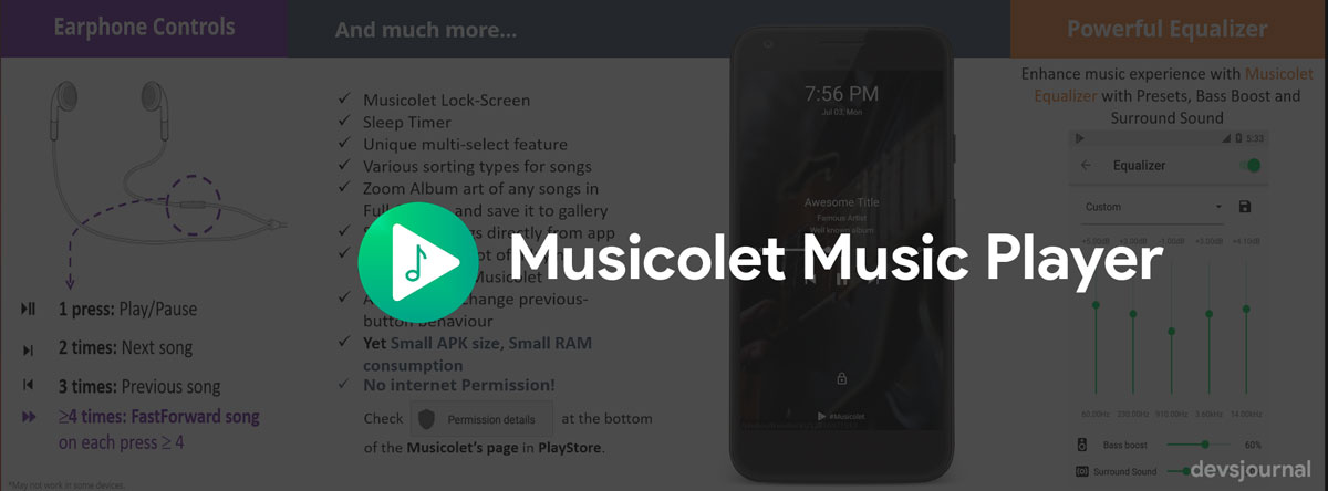 Musicolet Music Player Android App