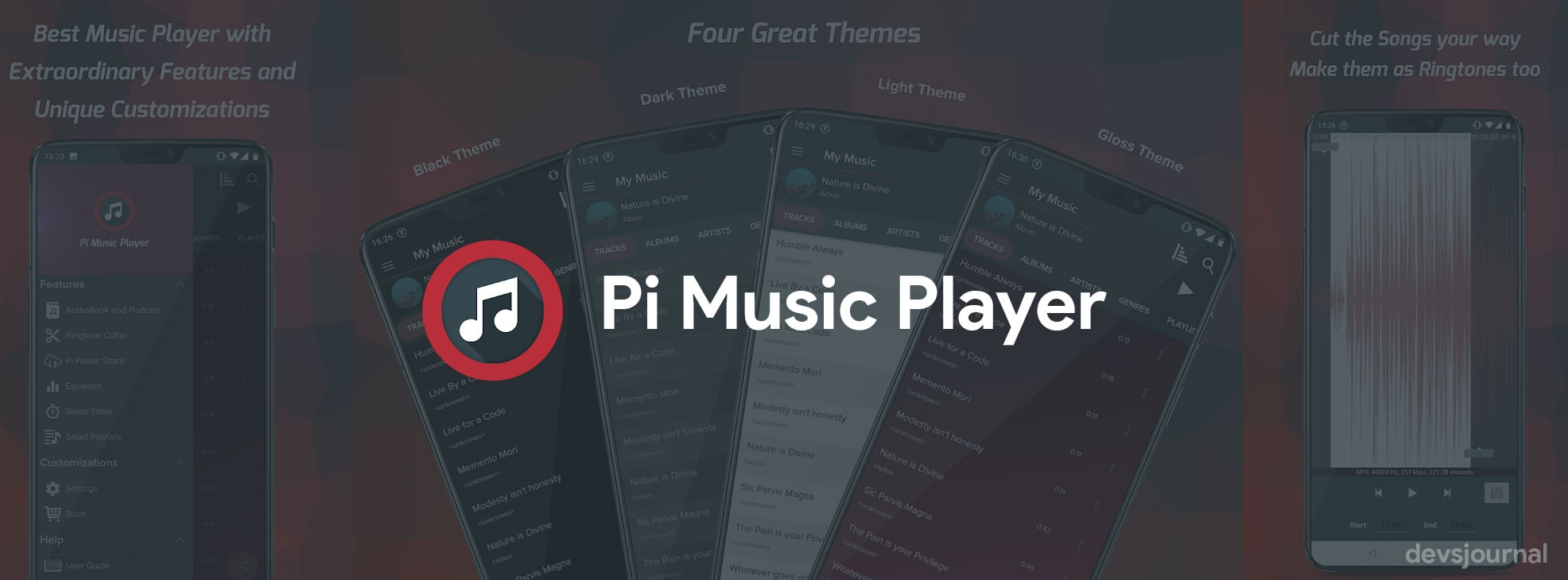Pi Music Player Best Android Music Player with Audiobook and Podcast