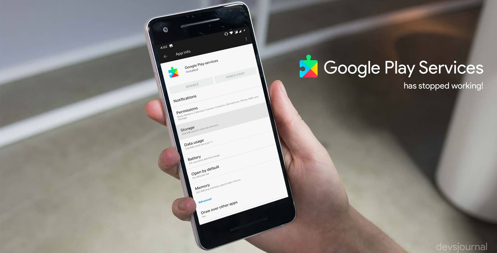 Fixed: Unfortunately Google Play Services has Stopped