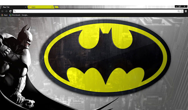 Batman Google Chrome theme Superhero