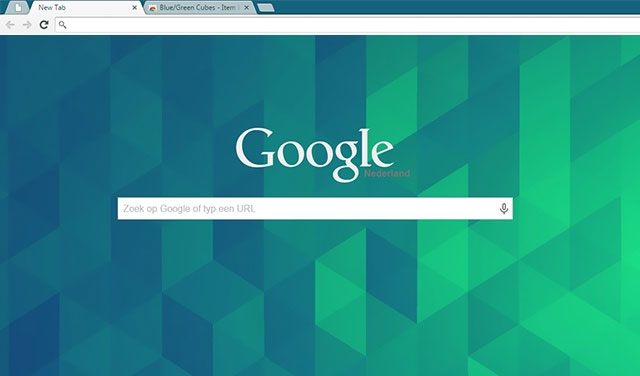 Blue Green Cubes best free Chrome theme
