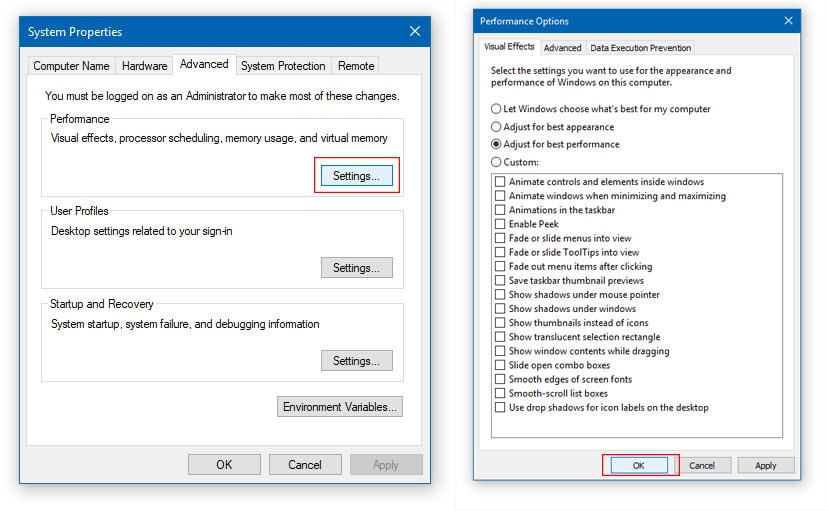 Change Windows Performance Settings to Set CPU priority to prefer foreground Applications