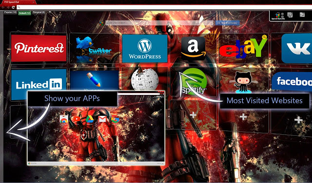 Deadpool [FVD] Best Google Chrome themes
