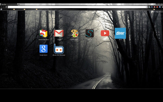 Into the Mist best Google Chrome theme