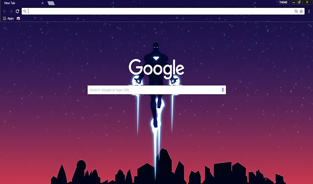 Iron Man Google Chrome Material design theme