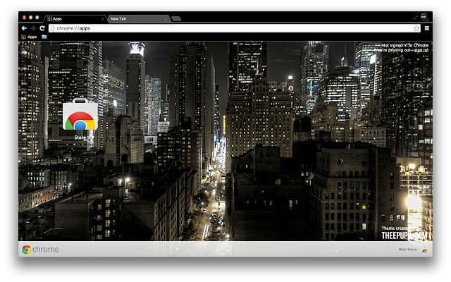Night Time In New York City best Chrome themes