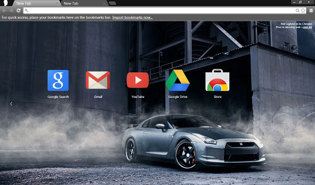 Nissan GT-R R35 Google Chrome themes