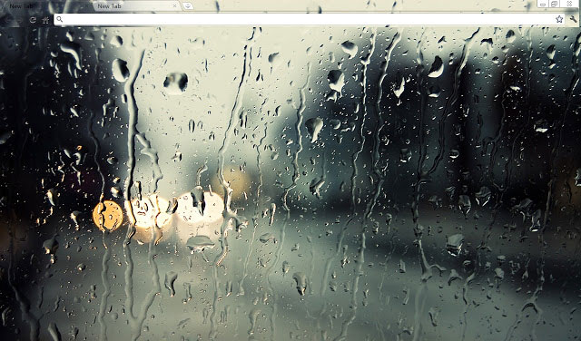 Raindrops(Non-Aero) Beautiful Dark Google Chrome theme