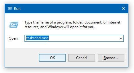 Taskschd.msc in Windows 10 8 7