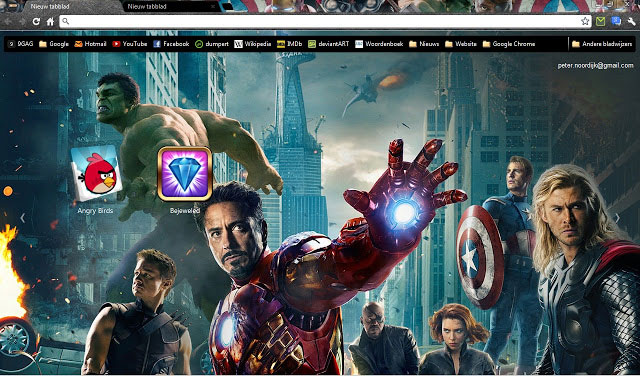 The Avengers Google Chrome themes