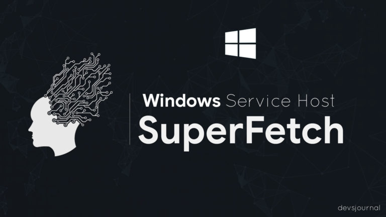 What is Windows Service Host Superfetch and fix it's high CPU Usage?