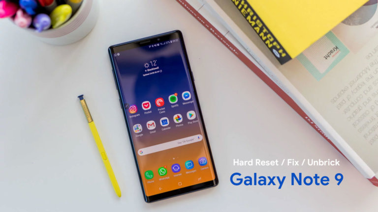 How To Unbrick Samsung Galaxy Note 9