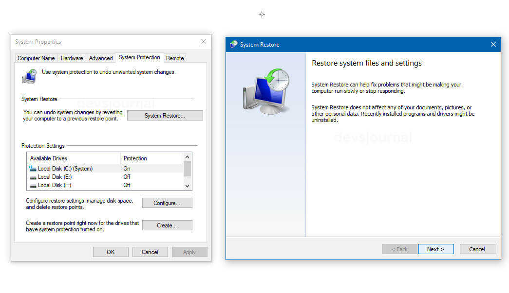 Use System Restore to fix Windows proxy setting detection issue