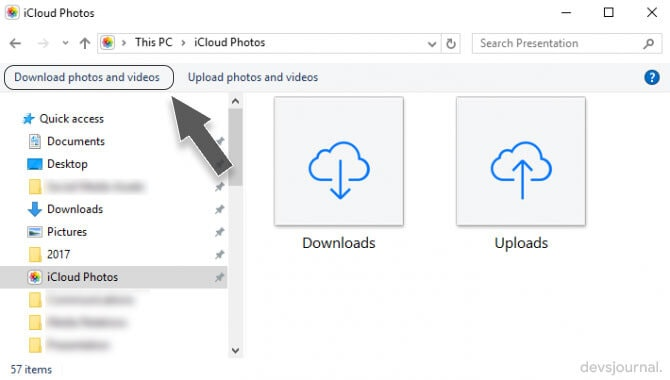 Download all iCloud Photos in Windows Single Click
