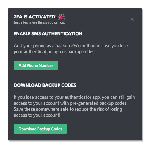 2Factor authentication in Discord server