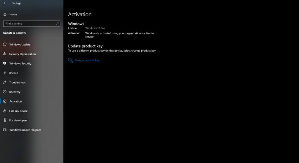 Check Status of Windows Activation