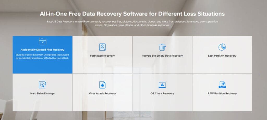 EaseUS Data Recovery Software Features
