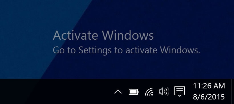 Why does the Activate Windows Watermark appear on your screen