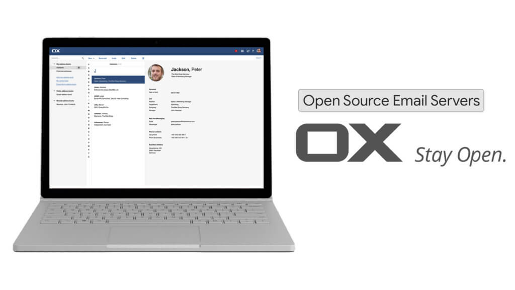OX is the best Email Open Source Server with good interface
