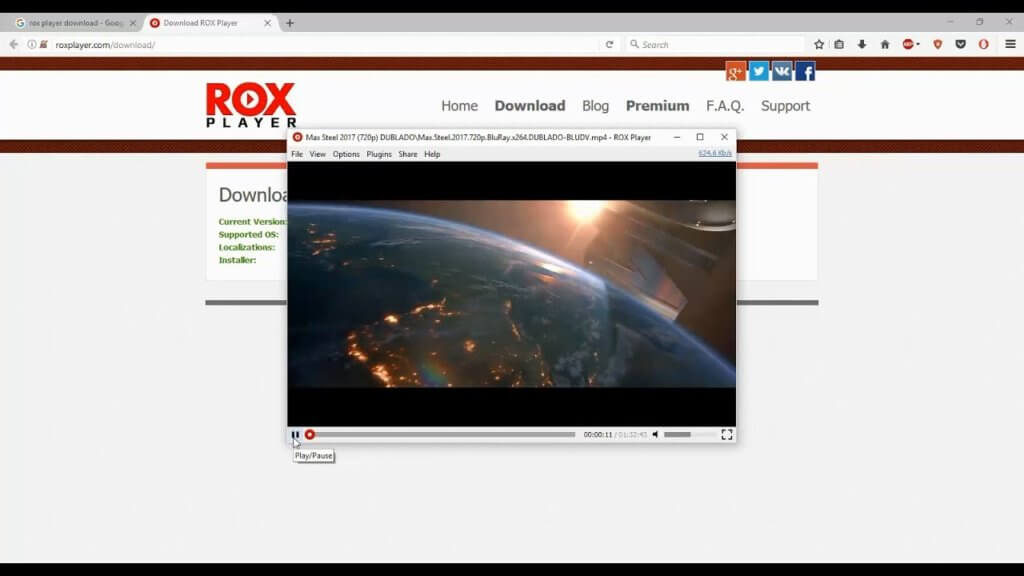 Rox pLayer Streaming Torrent Files