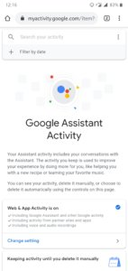 How to view your activity history in Google Assistant