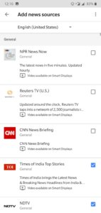 How To customize Google Assistant's news sources