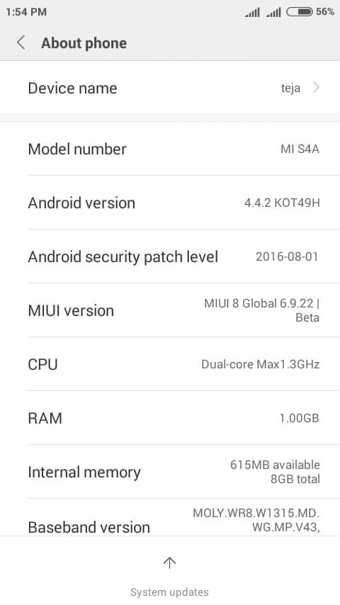miui8 ROM for mt6572