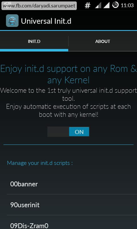How to Enable Init.d Support on any Android phone.