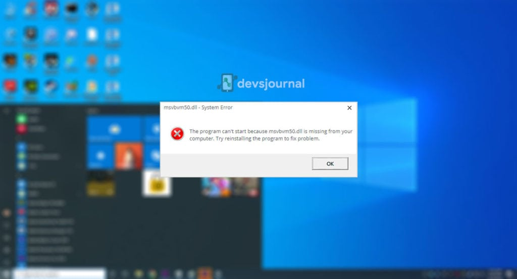 What is msvbvm50.dll file in Windows