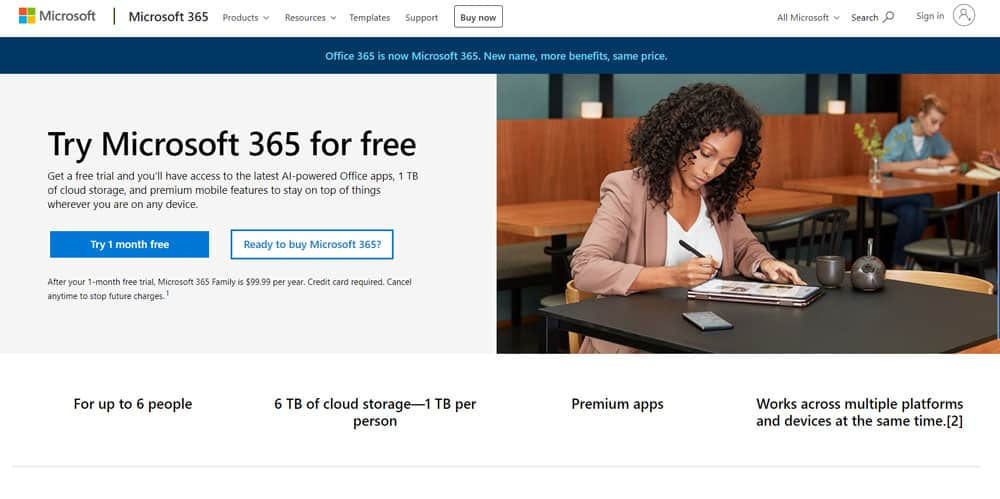 Get Microsoft Office for free by Office 365 Trial