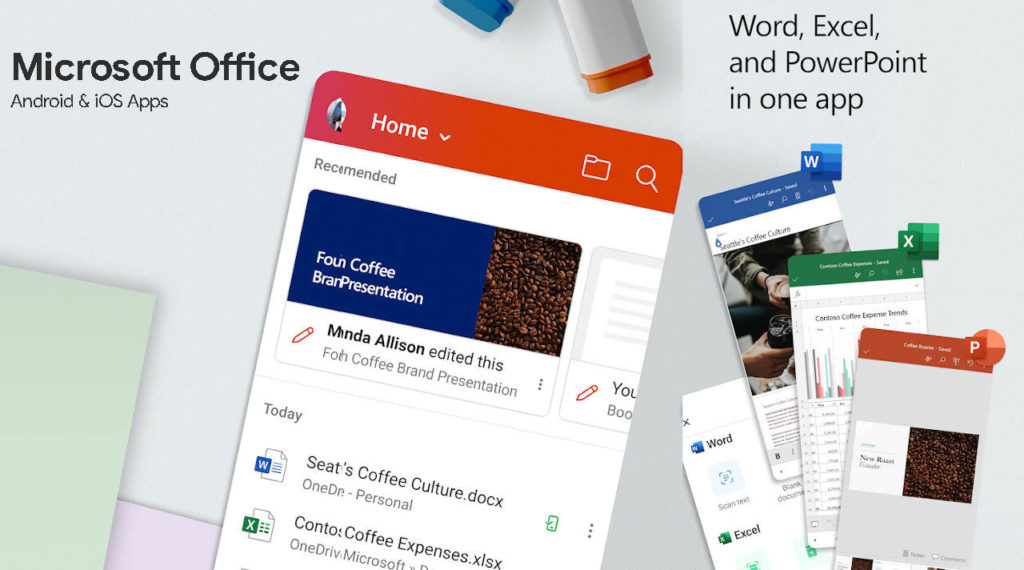 Get Microsoft Office for free through Android Apps