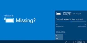 How to fix Missing Battery Icon in Windows 10