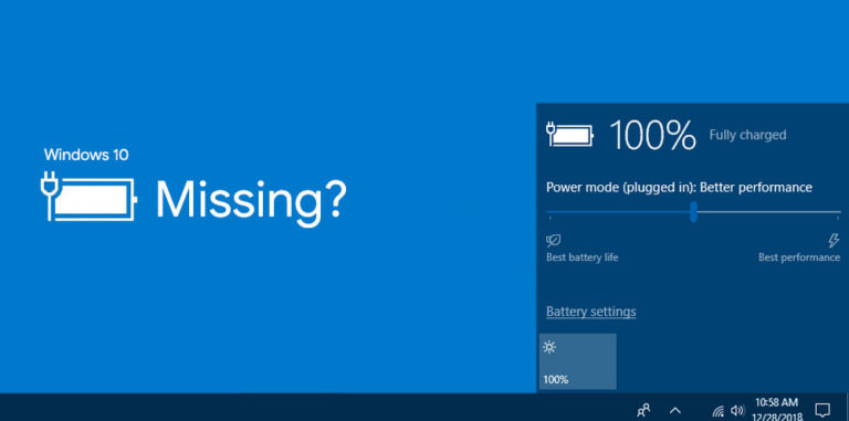Fix: Battery Icon Missing from Taskbar in Windows 10