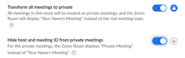 Make zoom meeting private to prevent Zoom bombing