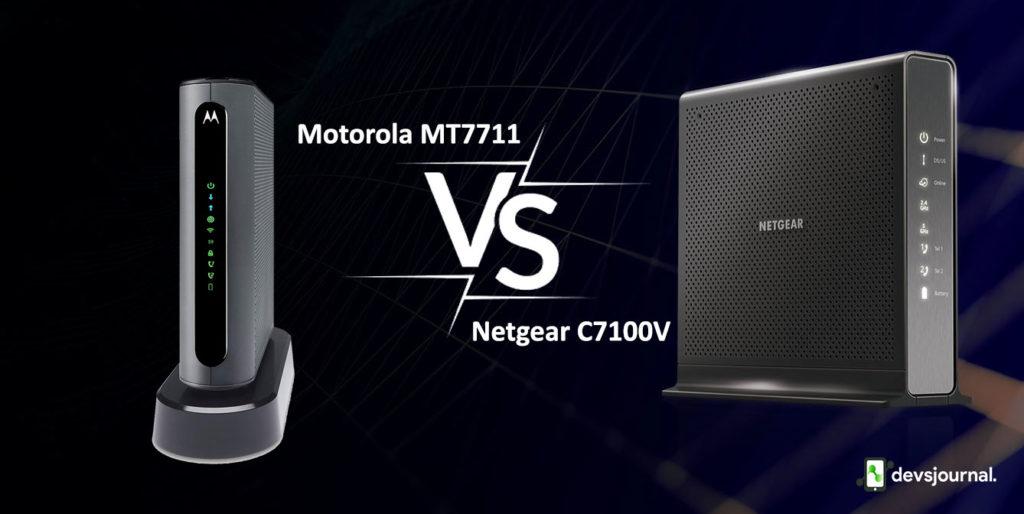 Motorola MT7711 vs Netgear Nighthawk C7100V