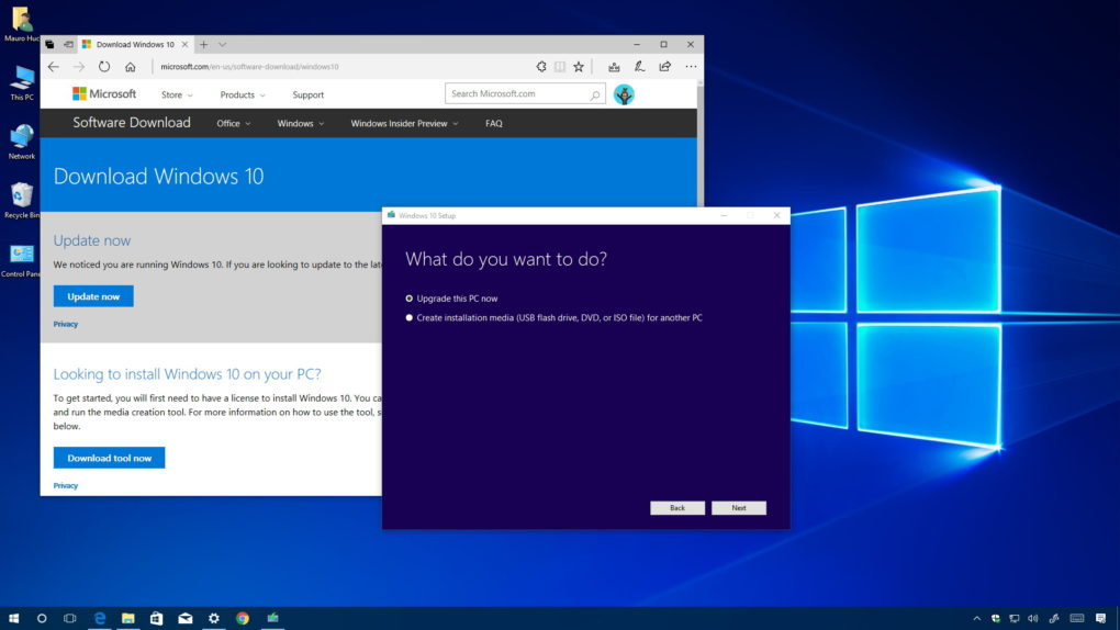 update windows 10 using media creation tool