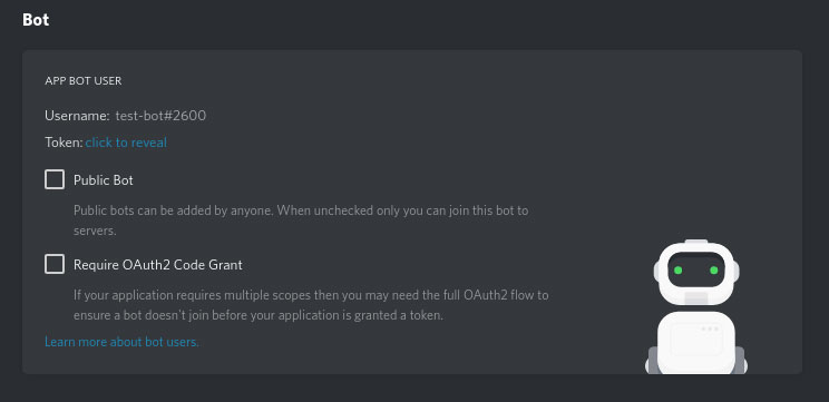 Adding the discord bot using discord tokens in server