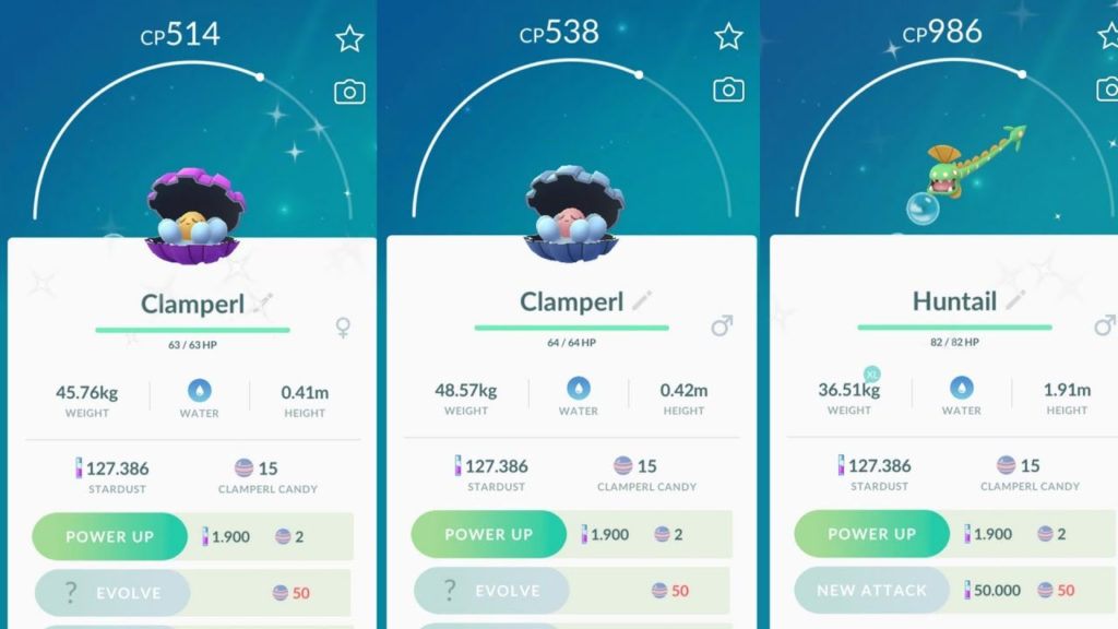 How To Evolve Clamperl In Pokemon Go