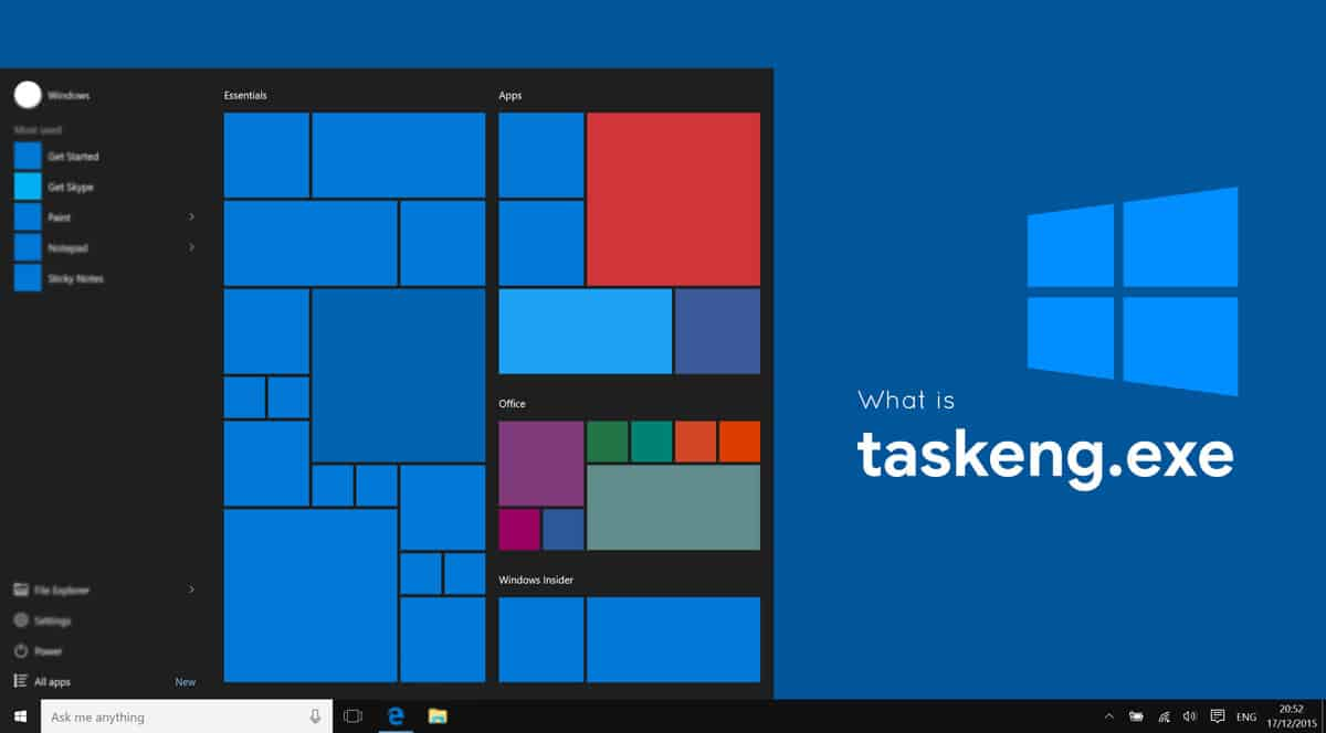 What is taskeng.exe in Windows
