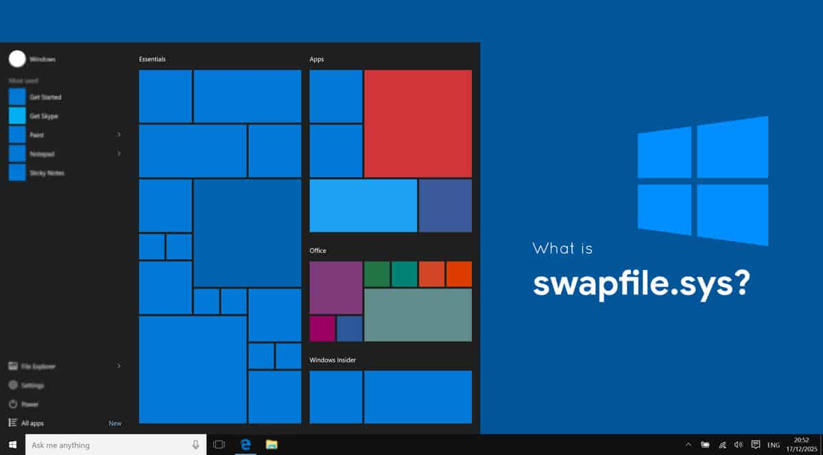 What is swapfile.sys in Windows